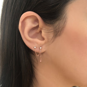 Niabi Earrings in Rose Gold