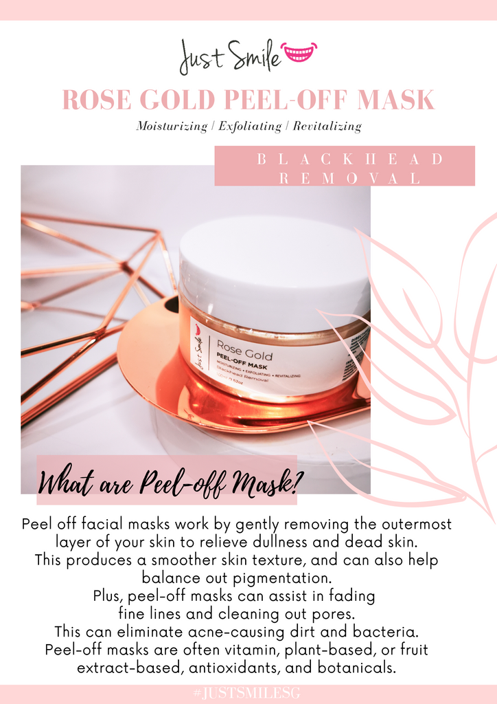 Just Smile Rose Gold Peel-Off Mask