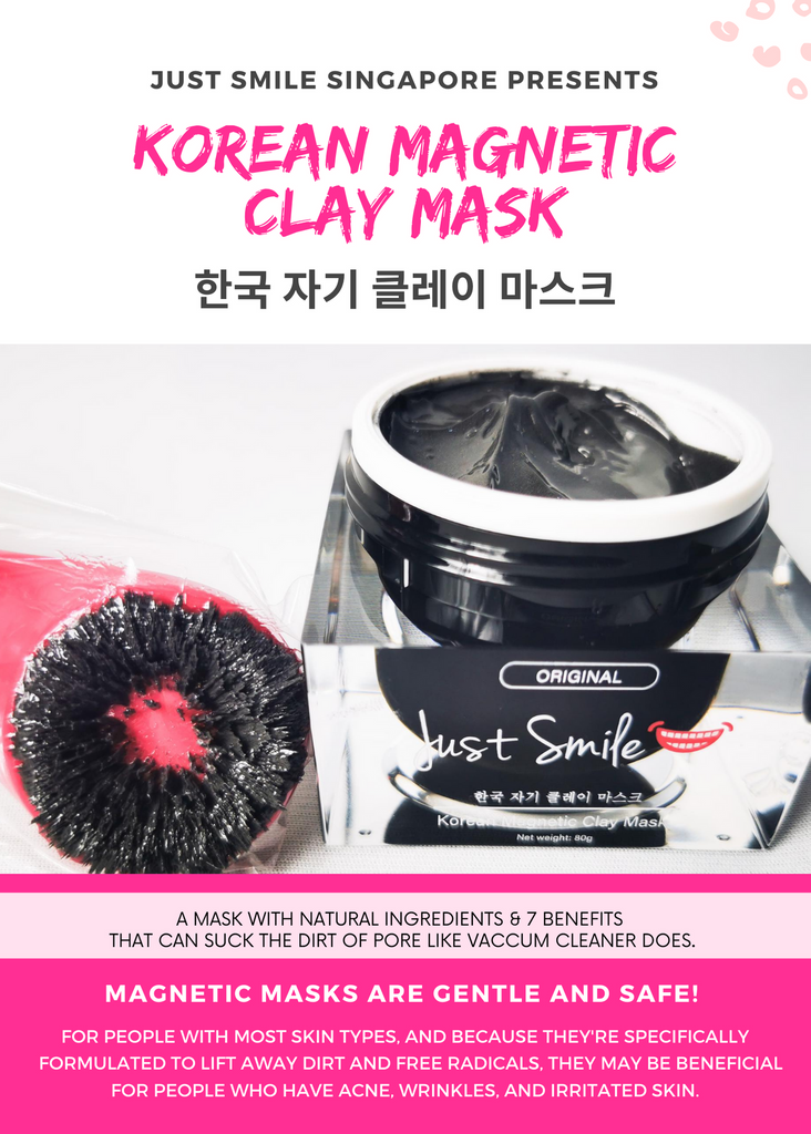Just Smile™ Korean Magnetic Clay Mask