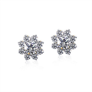 Paige Round Flower Cluster Earring