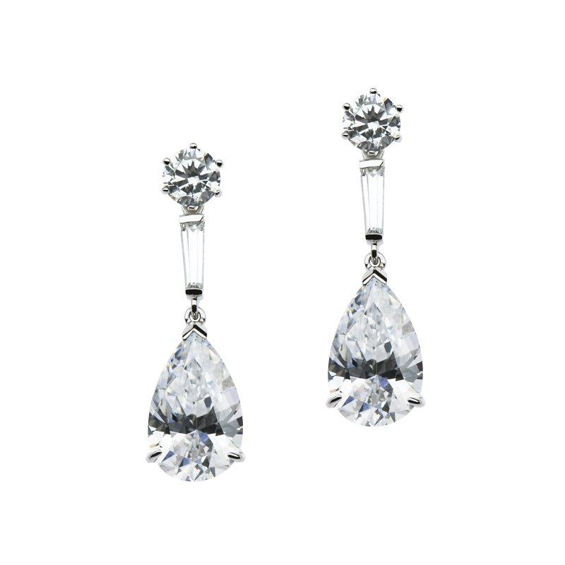 Madelyn Round Pear Drop Earrings