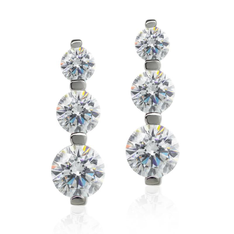 Albury Three Round Drop Earrings
