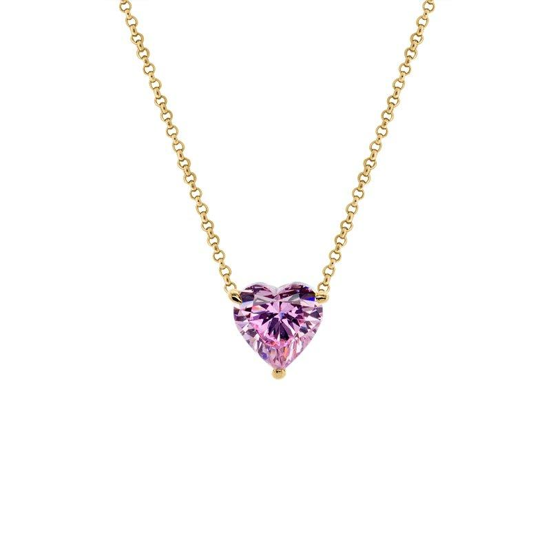 Heart Rose Pendant Yellow Gold