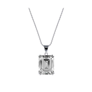 Bailey Emerald Single Prong Pendant Necklace