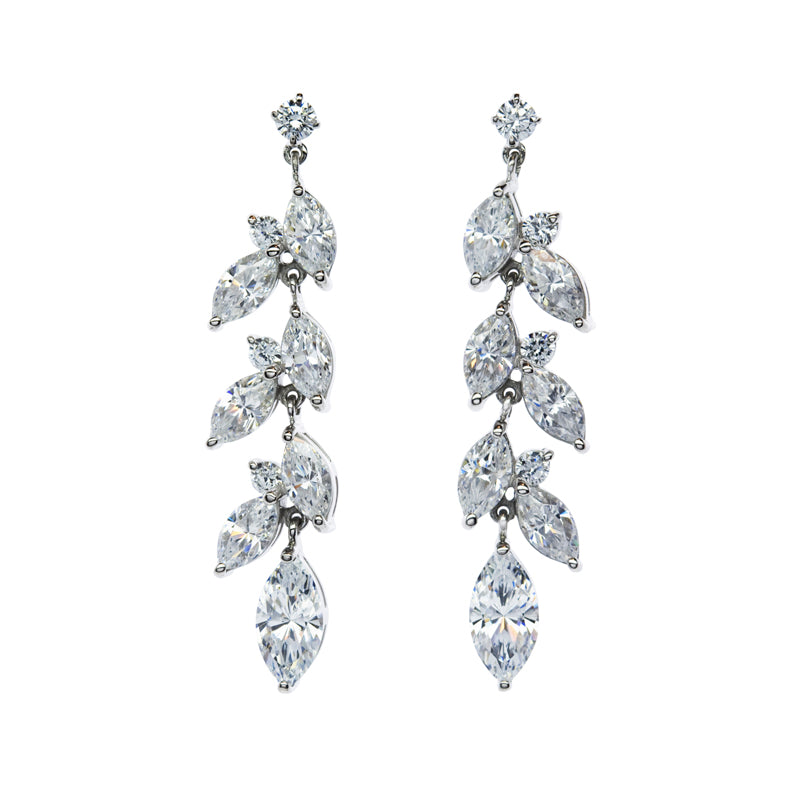 Sade Marquise Drop Chandelier Earrings