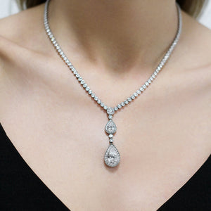 Double Pear Drop Grand Necklace