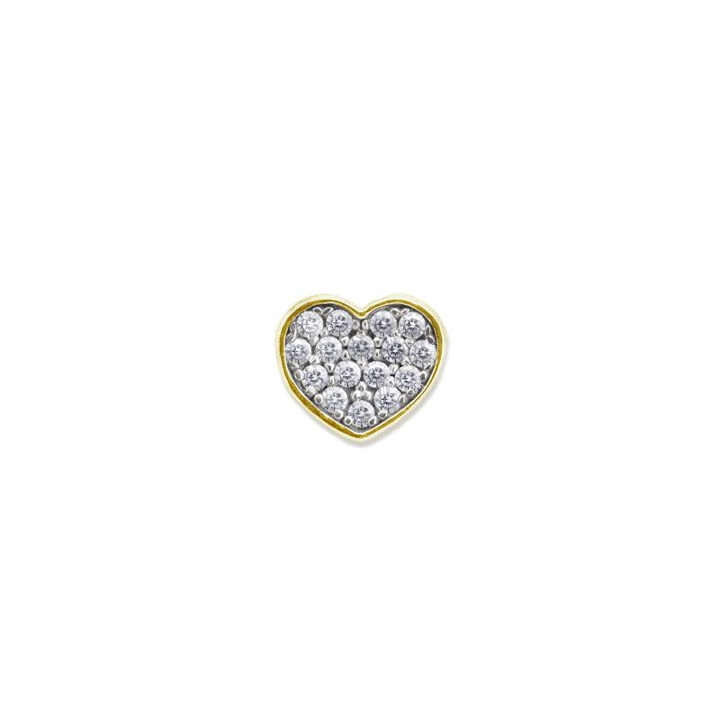 9K Yellow Gold Heart Stud