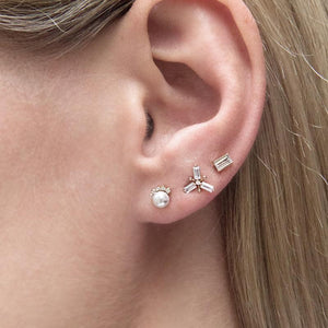 9K Rose Gold Stud