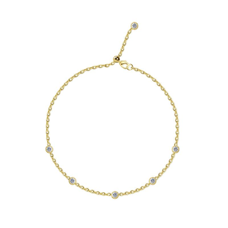 9K Yellow Gold Adjustable bracelet