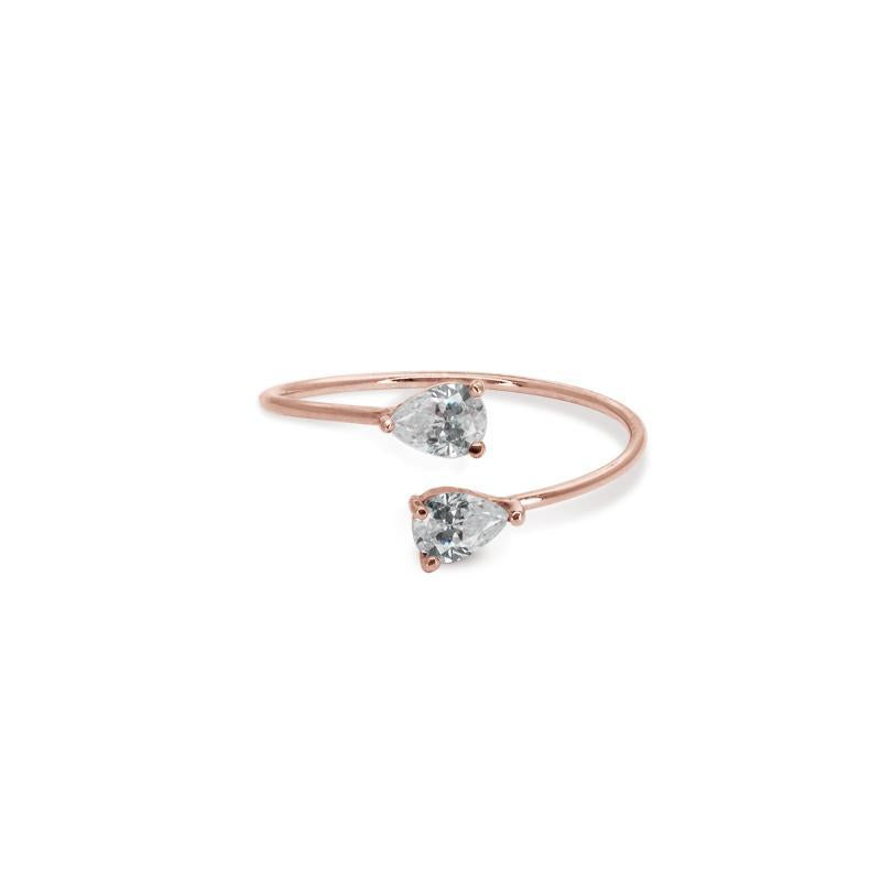 9K Rose Gold Open Ring