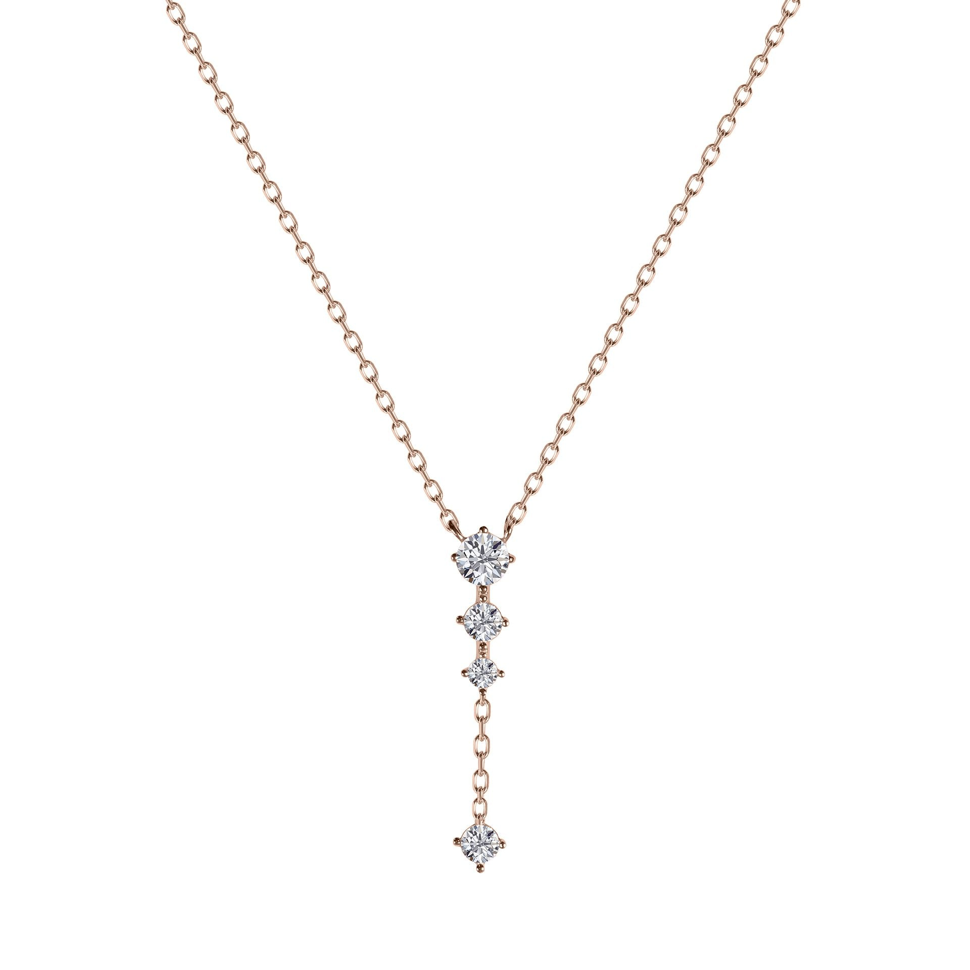 Jordyn Necklace in Rose Gold