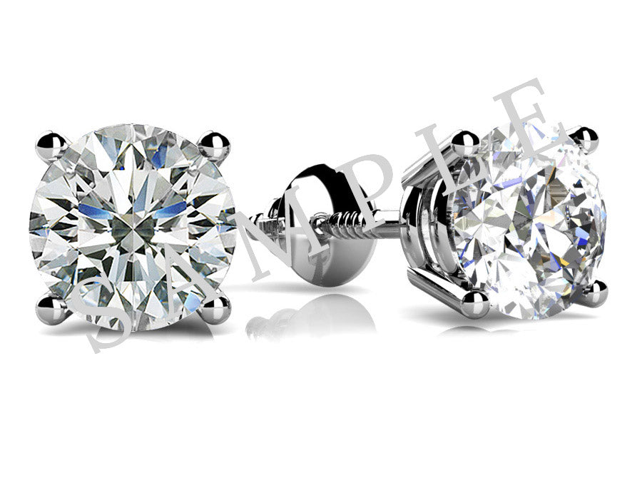 Halo Studs 18K White Gold