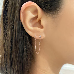 Lilah Earring in Rose Gold