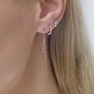 9K Rose Gold Drop Earring