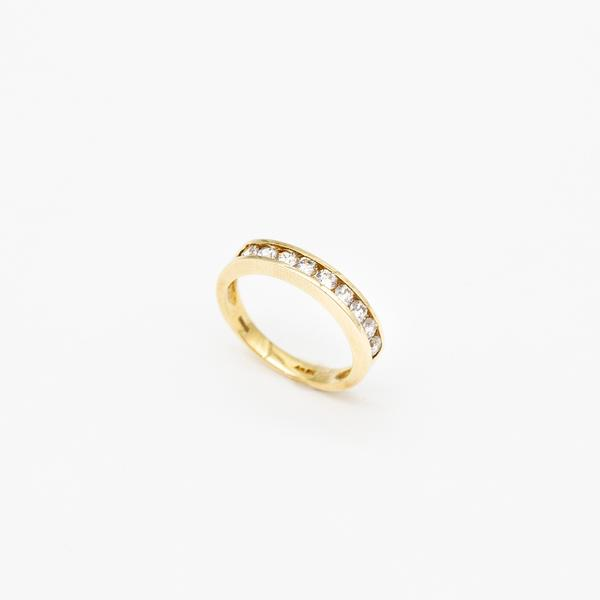 Eternity Band In Yellow Gold