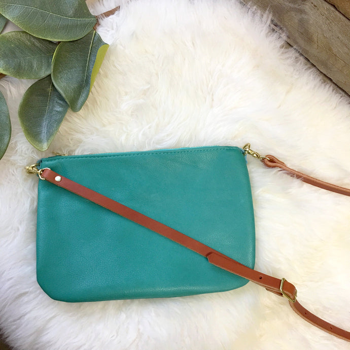 Small Crossbody / Clutch - Teal