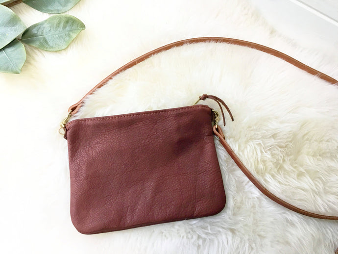 Small Crossbody / Clutch - Saddle Tan