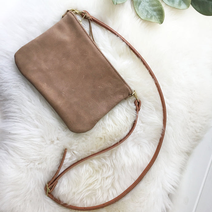 Small Crossbody / Clutch - Rustic Tan