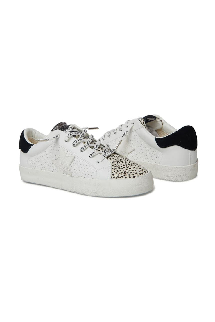 Gadol White Cheetah Star Sneaker