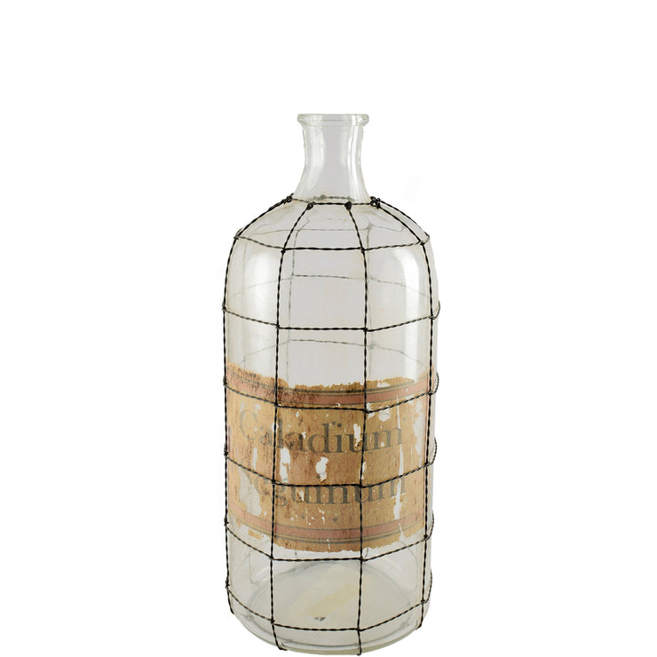 Andrina III Small Wire Brass Cover Glass Bottle