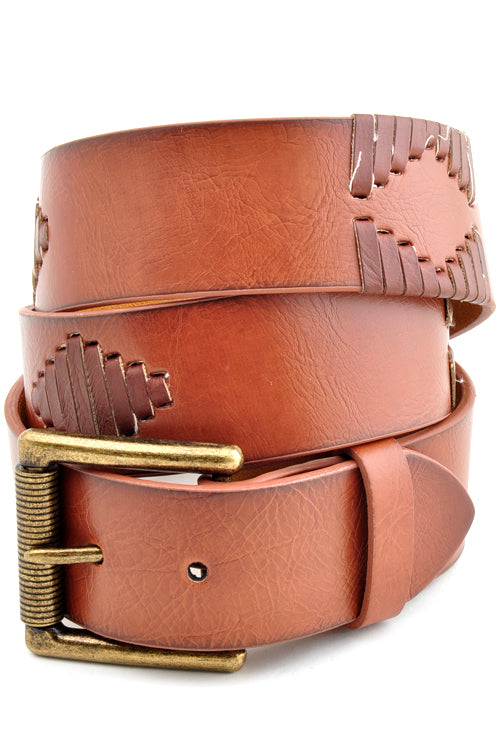 Tan Patterned Belt