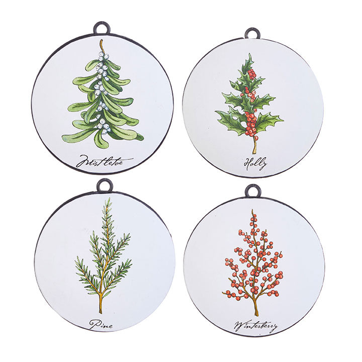 HOLIDAY BOTANICALS DISC ORNAMENT