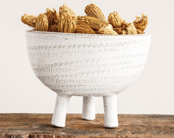 Terra-cotta Pot White Footed Bowl