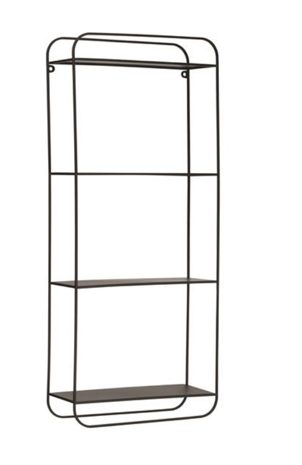 Black 4 Tier Metal Shelf
