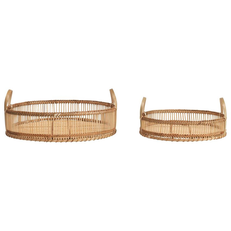 Decorative Bamboo Trays w/ Handles
