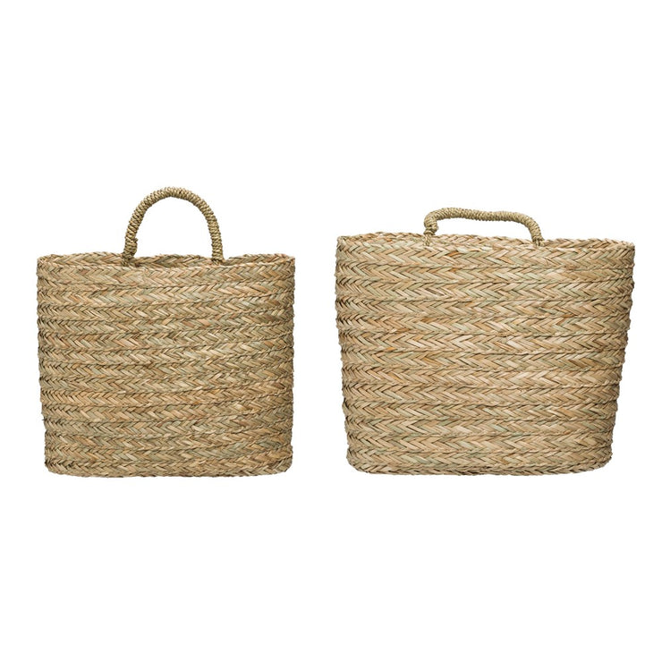 Seagrass Wall Baskets w/ Handle