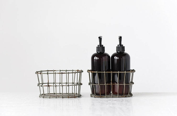 Wire Basket Lotion/Soap Bottle Holder