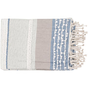 Manteo Sea Foam & Denim Throw