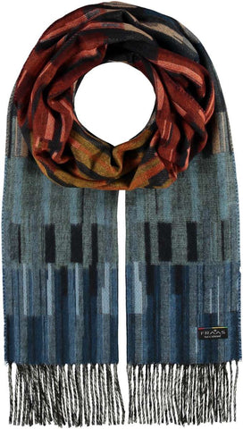 Fraas Linear Ombre Woven Cashmink Scarf 625264