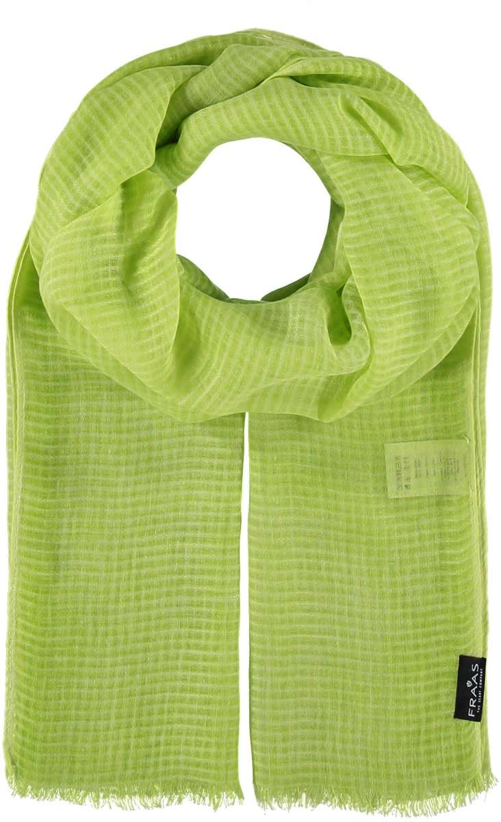 Fraas Grid Stole Scarf 625364 - Lime