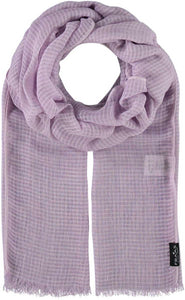 Fraas Grid Stole Scarf 625364 - Lavender