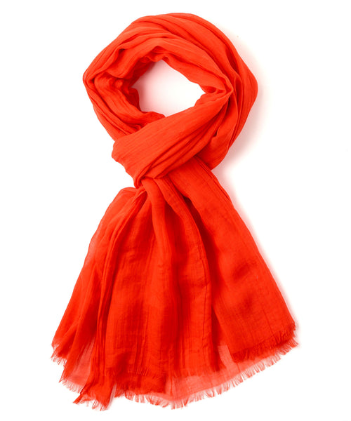 Echo Solid Crinkle Wrap Scarf 806227 - Rouge