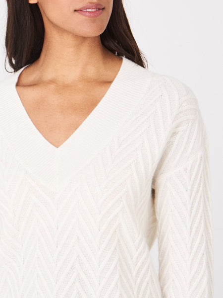 Repeat Textured Cashmere Blend Sweater 200206
