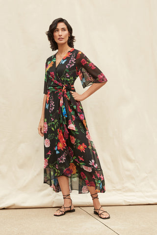 Joseph Ribkoff Floral Wrap Dress 211063