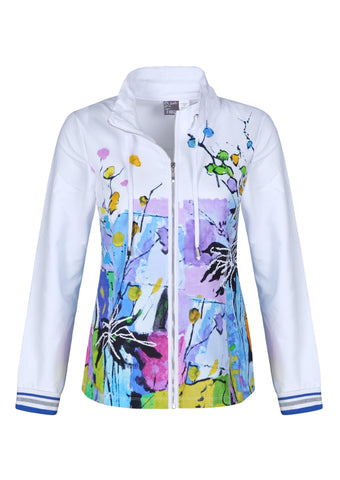 Dolcezza Floral and Abstract Jacket 21668