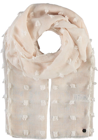 Fraas Textured Dot Scarf 602033