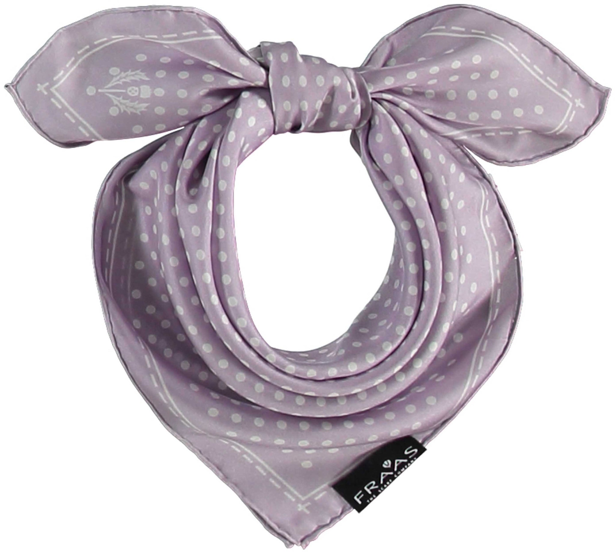 Fraas Silk Square Dot Neckie Scarf 612168