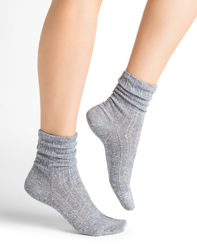 Bleuforêt Marled Linen & Cotton Socks 6164