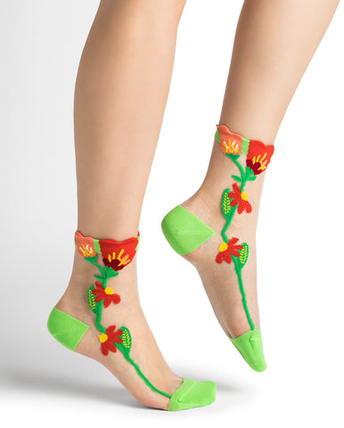Bleuforêt Wildflower Transparent Socks 6285