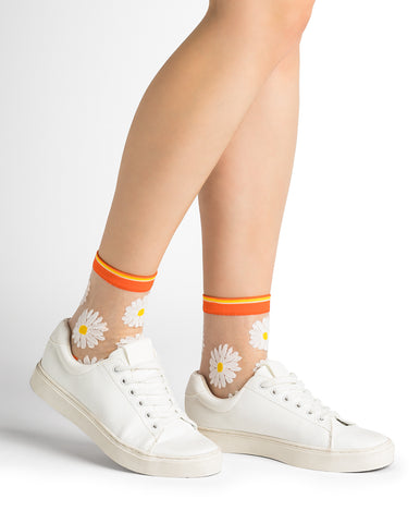 Bleuforêt Daisy Transparent Socks 6286