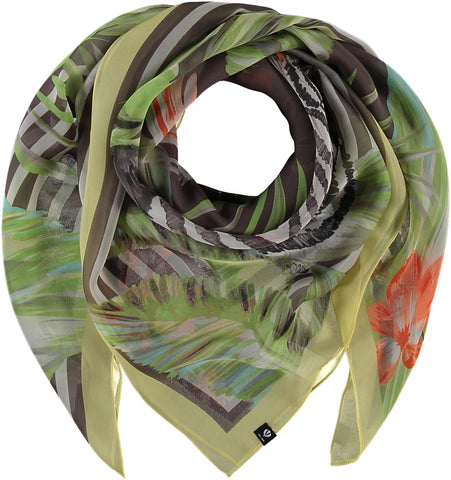 Fraas Jungle Stripe Silk Chiffon Scarf 632009
