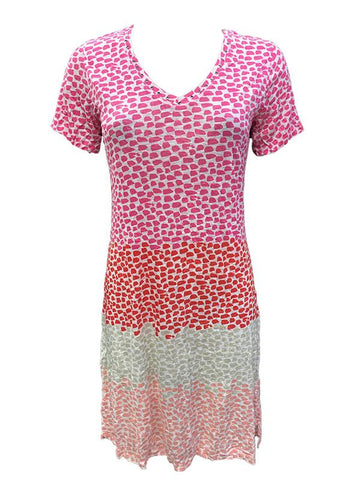 David Cline V-Neck Dot Dress 6527C