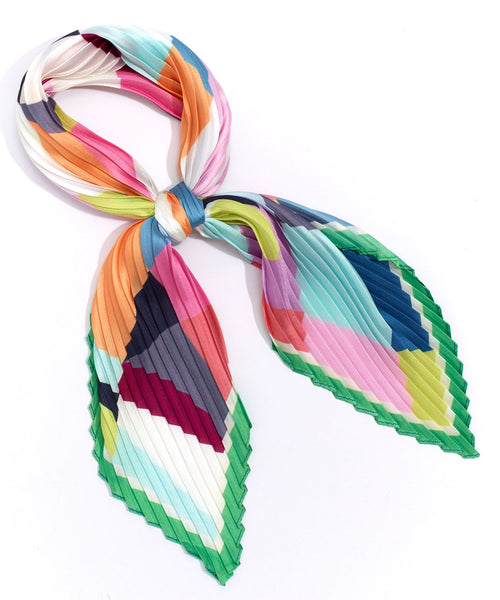 Echo Fracture Pleated Scarf EN1052 - Multi