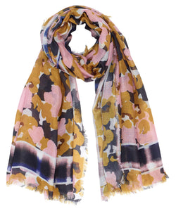 Echo Watery Plaid Floral Wrap EN0937