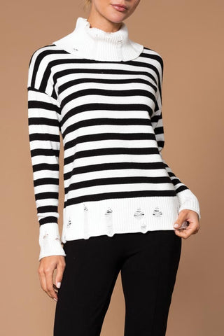 Elena Wang Striped Turtleneck EW25065