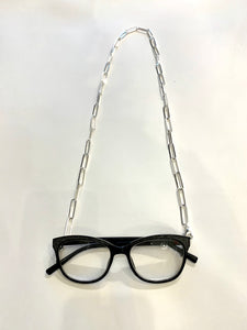 Merx Mask & Glasses Chain - Silver